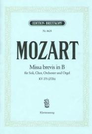 Missa brevis B-Dur KV275 -Mozart | Breitkopf
