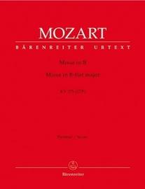 MISSA BREVIS B-DUR KV275 - Mozart | Barenreiter
