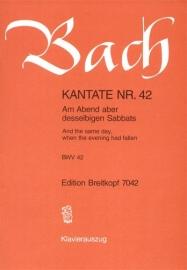 Am Abend aber desselbigen Sabbats : Kantate BWV42 - Bach | Breitkopf