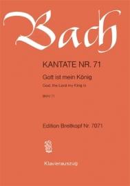 Gott ist mein König : Kantate  BWV71-Bach |Breitkopf