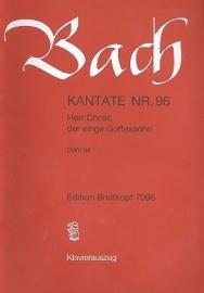 Herr Christ der ein`ge Gottessohn , Kantate 96 BWV96 - Bach | Breitkopf