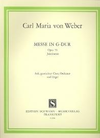 Messe G-Dur op.76 - Weber | Schwann ed.
