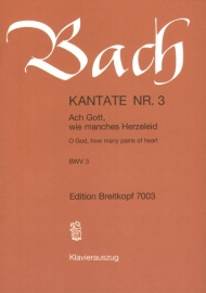 Ach Gott wie manches Herzeleid : Kantate 3 BWV3-Bach | Breitkopf