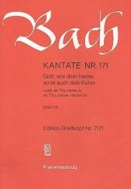 Gott wie dein Name so ist auch dein Ruhm : Kantate 171 BWV171-Bach | Breitkopf