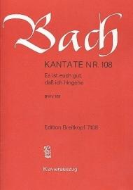 Es ist euch gut daß ich hingehe : Kantate108 BWV108-Bach | Breitkopf
