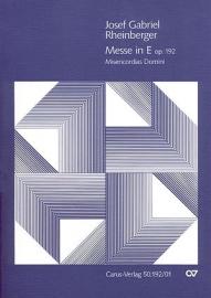 Messe E-Dur op.192 | Rheinberger
