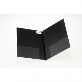 Koormap zwart/ kunstleer - hoog formaat/ rug 3cm