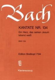 Ein Herz das seinen Jesum lebend weiß , Kantate 134 BWV134 - Bach | Breitkopf