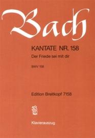 Der Friede sei mit dir , Kantate 158 BWV158- Bach | Breitkopf