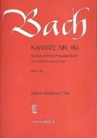 Erwünschtes Freudenlicht , Kantate 184 BWV184 - Bach | Breitkopf