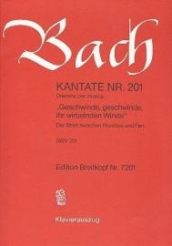 Geschwinde geschwinde ihr wirbelnden Winde, Kantate 201 BWV201 - Bach | Breitkopf