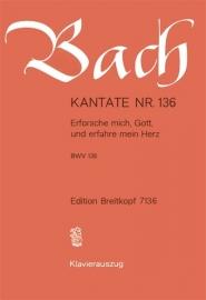 Erforsche mich Gott und erfahre mein Herz , Kantate 136 BWV136 - Bach | Breitkopf
