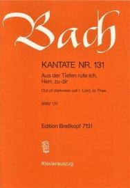 Aus der Tiefen rufe ich Herr zu dir / Kantate Nr.131 BWV131 - Bach | Breitkopf