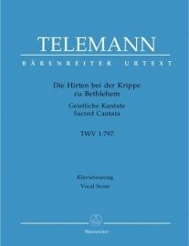 Die Hirten bei der Krippe TWV1:797 - Telemann | Barenreiter