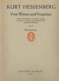 Vom Wesen und Vergehen op.45 - Kurt Hessenberg