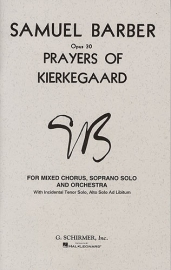 Prayers of Kierkegaard- Barber | Schirmer