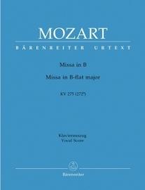 Missa brevis B-Dur KV275 -Mozart | Barenreiter