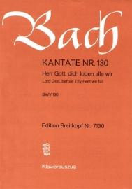 Herr Gott dich loben alle wir : Kantate 130 BWV130-Bach | Breitkopf
