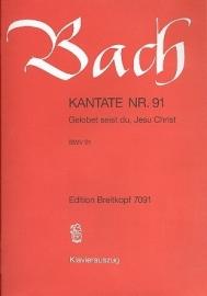 Gelobet seist du Jesu Christ , Kantate 91 BWV91- Bach | Breitkopf