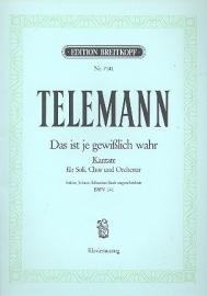 Das ist je gewißlich wahr /Kantate Nr.141 BWV141- Telemann | Breitkopf