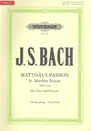 Mattheus Passion - Bach   Peters