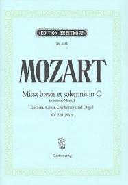 Missa brevis C-Dur KV220- Mozart | Breitkopf