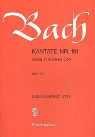 Gloria in excelsis Deo : Kantate BWV191-Bach | Breitkopf