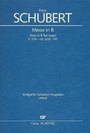 Messe B-Dur D324 op.post.14- Schubert | Carus