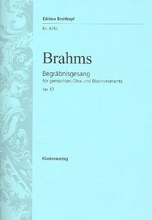 Begräbnisgesang op.13- Brahms | Breitkopf