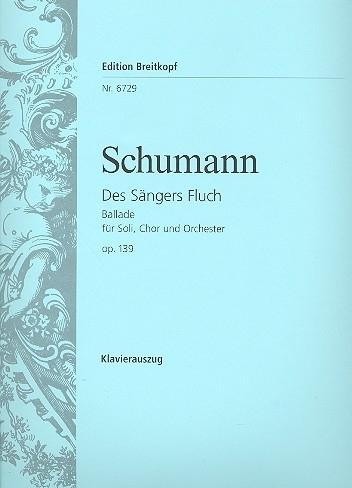 Des Sängers Fluch op.139 -Schumann | Breitkopf