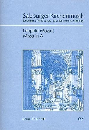 Messe A-Dur - Leopold Mozart | Carus