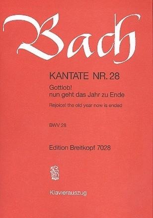 Gottlob nun geht das Jahr zu Ende , Kantate 28 BWV28 - Bach | Breitkopf