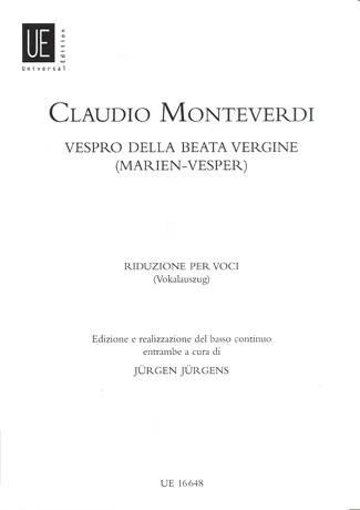 Vespro della beata vergine - Monteverdi