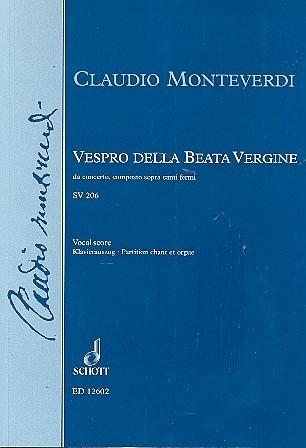 Vespro della beata vergine SV206 - Monteverdi | Schott