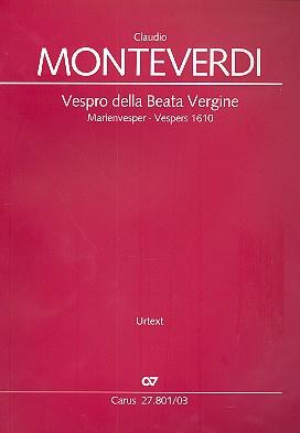 Vespro della Beata Vergine ( MarienVesper) SV206-Monteverdi || Carus
