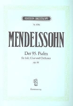 Der Psalm Nr.95 op.46- Mendelssohn | Breitkopf