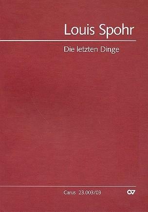 Die letzten Dinge - Louis Spohr