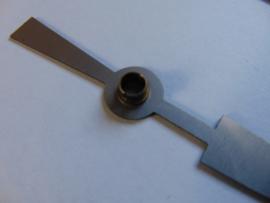 Zwarte alluminium wijzers 12.5 cm.