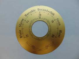 Messing barometer schaal 124 mm.