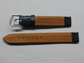 Blauwe leren horlogeband 14 mm.