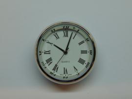 Insteek uurwerk 35 mm. chroom.