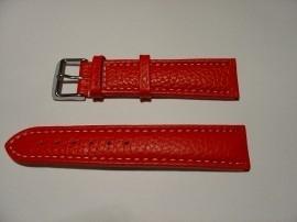 Rode leren XXL horlogeband
