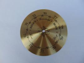 Messing barometer schaal