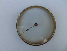 Oud barometerglas inclusief rand.  (003)