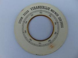 Oude barometer schaal