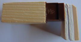 Koekoeksklok fluiten 6.5 cm. zijkant