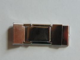 Chroom klemslot met veertje 16 mm.