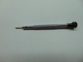Schroevendaaier platte bek 1 mm. (zwart) niet magnetisch