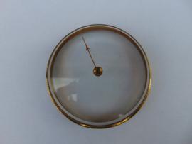 Oud barometerglas inclusief rand.  (001)