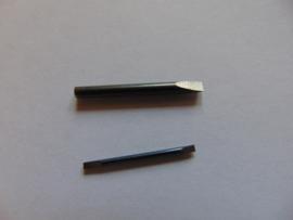 Stalen schroevendraaier inzetjes 0.5 t/m 1.6 mm.